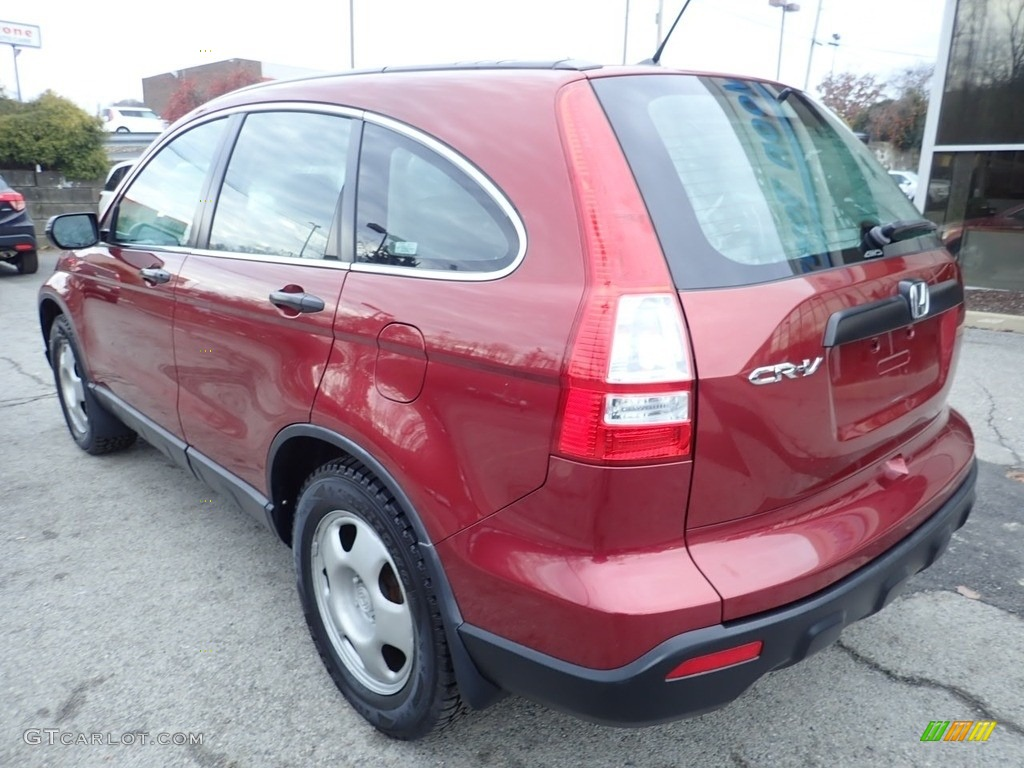 2007 CR-V LX 4WD - Tango Red Pearl / Black photo #3