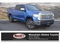 2016 Blazing Blue Pearl Toyota Tundra Limited CrewMax 4x4 #131047941