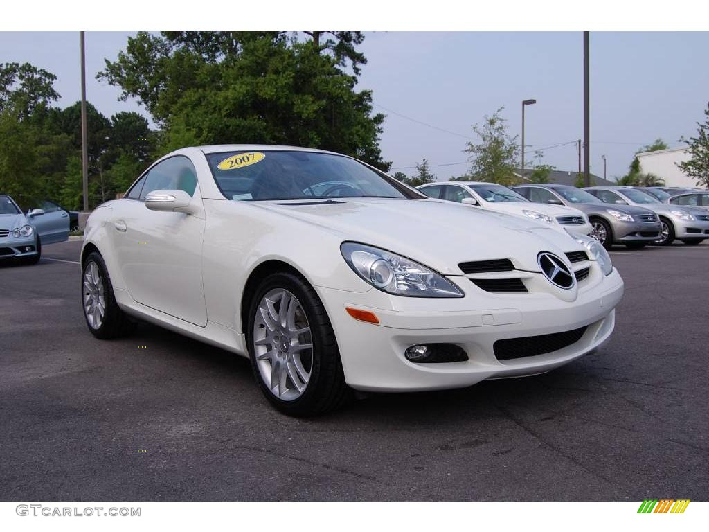 2007 slk 280 roadster alabaster white beige photo 1