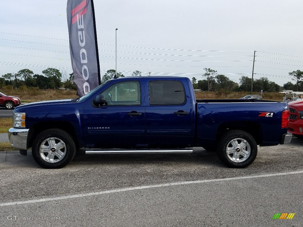 2013 Silverado 1500 LT Crew Cab 4x4 - Blue Topaz Metallic / Ebony photo #2