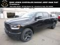 Diamond Black Crystal Pearl 2019 Ram 1500 Big Horn Crew Cab 4x4