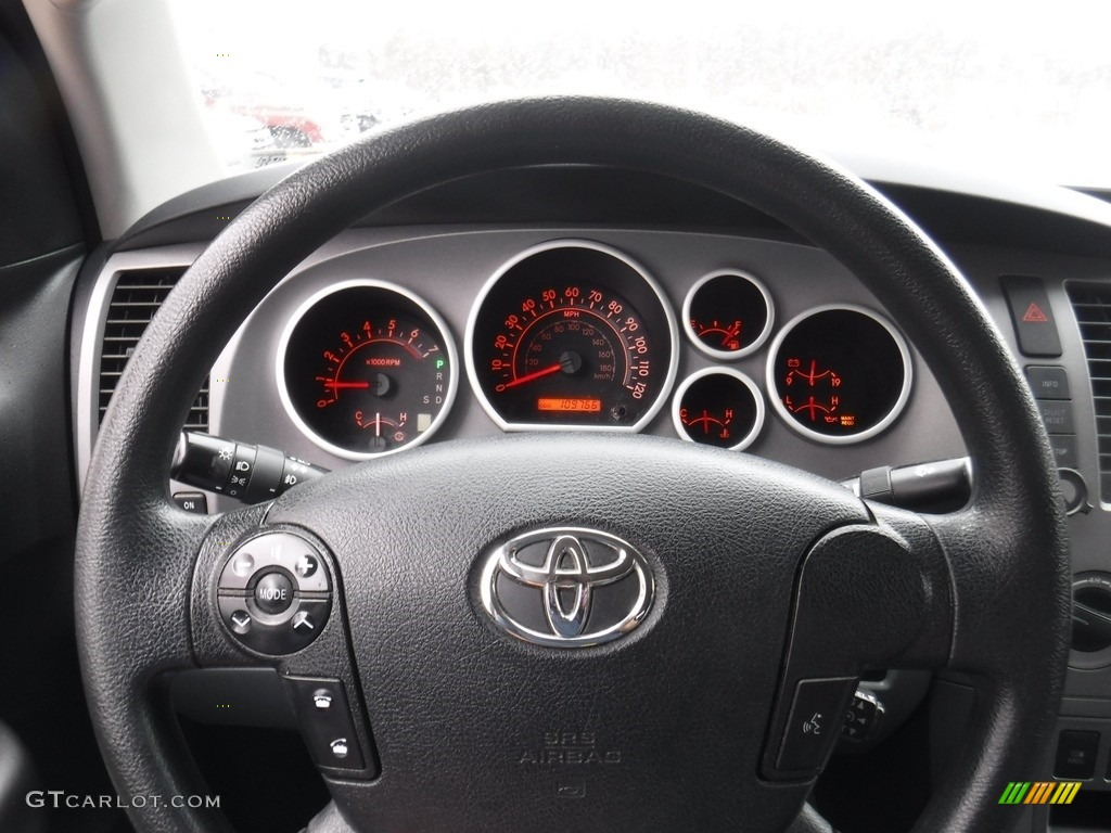 2011 Tundra SR5 Double Cab 4x4 - Super White / Graphite Gray photo #23