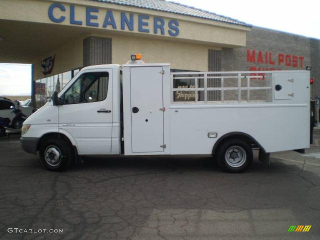 2004 sprinter van 3500 chassis utility truck arctic white gray photo 1