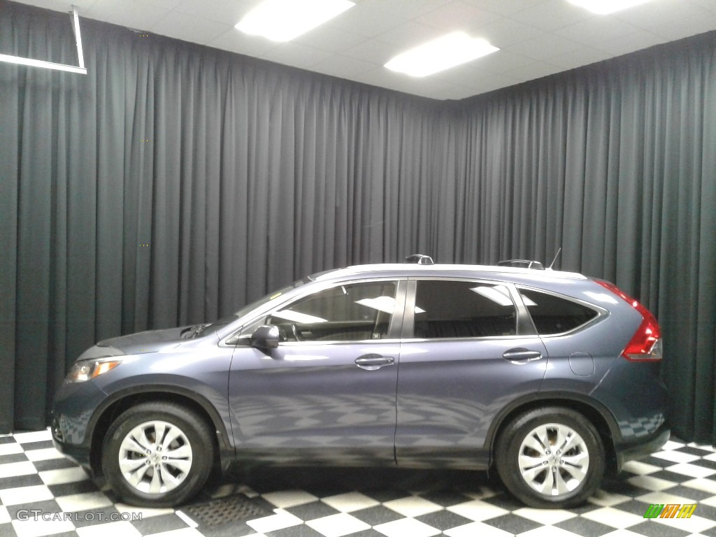 2012 CR-V EX-L - Twilight Blue Metallic / Gray photo #1