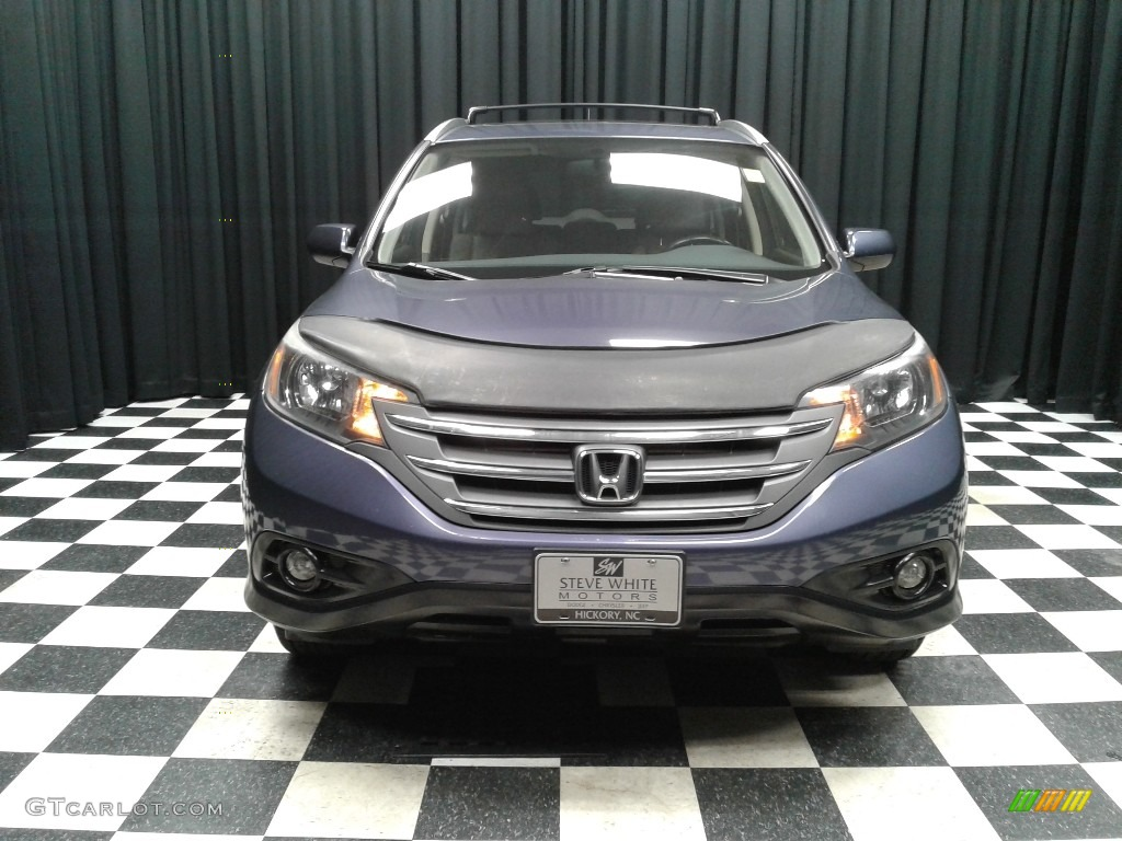 2012 CR-V EX-L - Twilight Blue Metallic / Gray photo #3