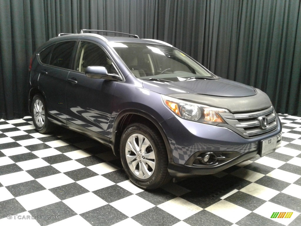 2012 CR-V EX-L - Twilight Blue Metallic / Gray photo #4