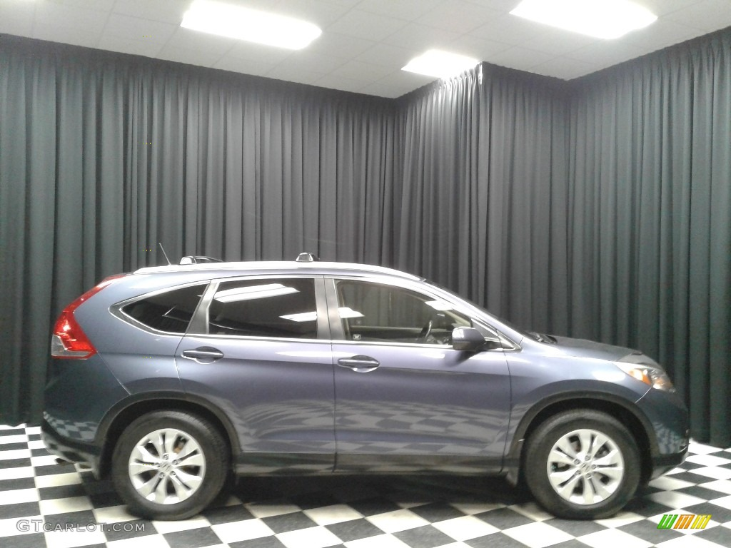 2012 CR-V EX-L - Twilight Blue Metallic / Gray photo #5