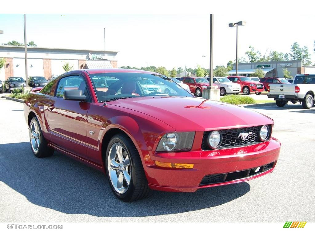 2006 Mustang GT Premium Coupe - Redfire Metallic / Red/Dark Charcoal photo #1