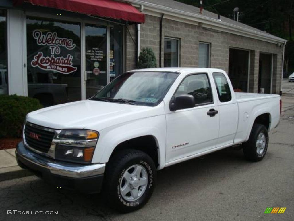 2004 summit white gmc canyon sl extended cab 4x4 13085059 car color galleries. Black Bedroom Furniture Sets. Home Design Ideas