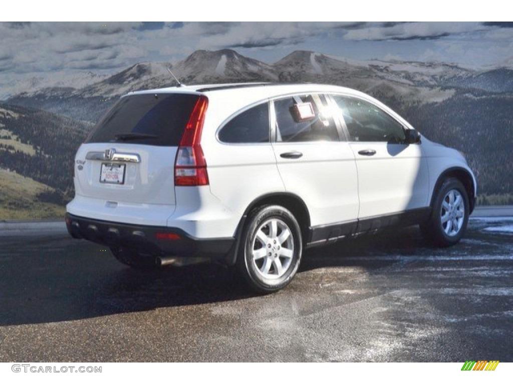 2008 CR-V EX 4WD - Taffeta White / Gray photo #3