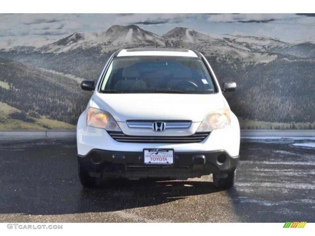2008 CR-V EX 4WD - Taffeta White / Gray photo #4