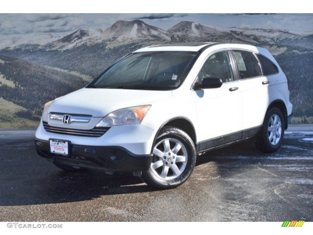 2008 CR-V EX 4WD - Taffeta White / Gray photo #5