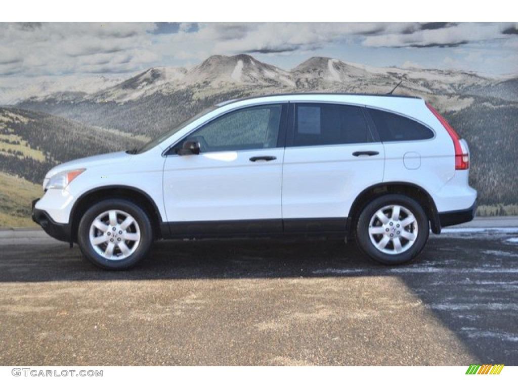 2008 CR-V EX 4WD - Taffeta White / Gray photo #6