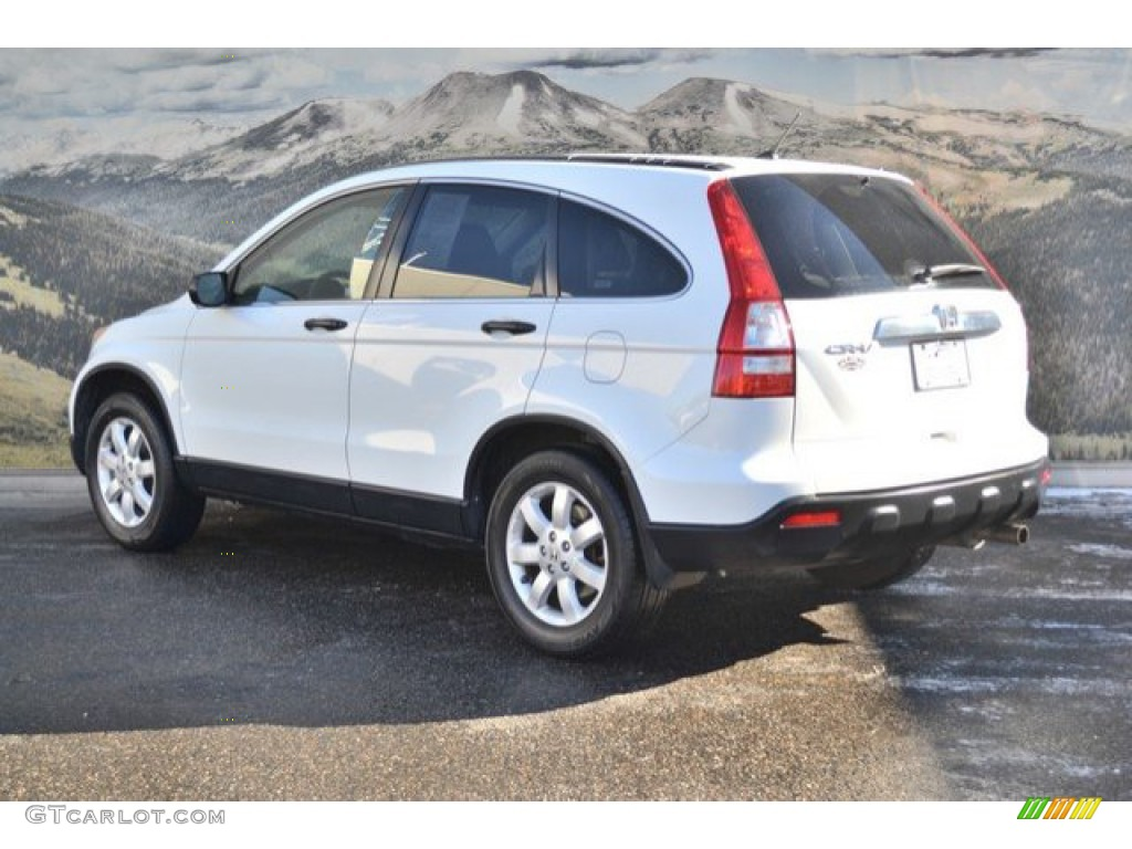 2008 CR-V EX 4WD - Taffeta White / Gray photo #8