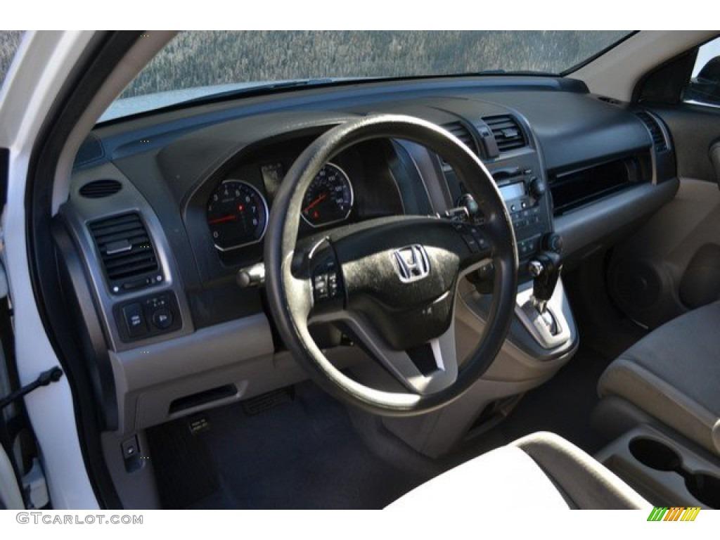 2008 CR-V EX 4WD - Taffeta White / Gray photo #10