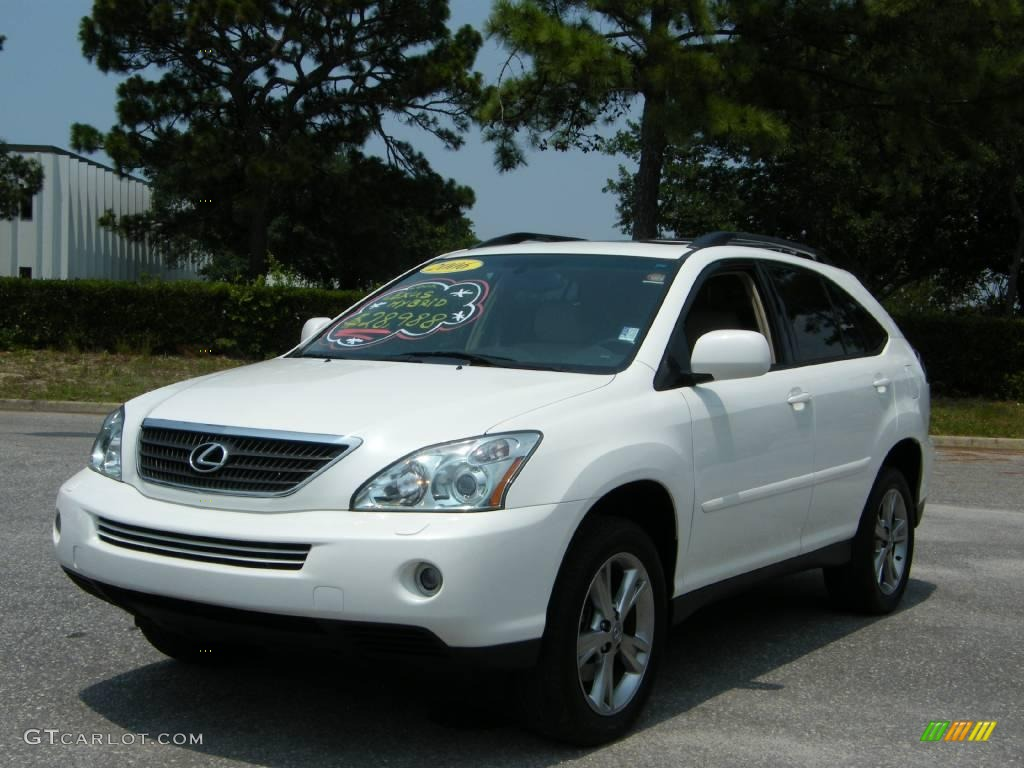 2006 crystal white pearl lexus rx 400h awd hybrid. Black Bedroom Furniture Sets. Home Design Ideas