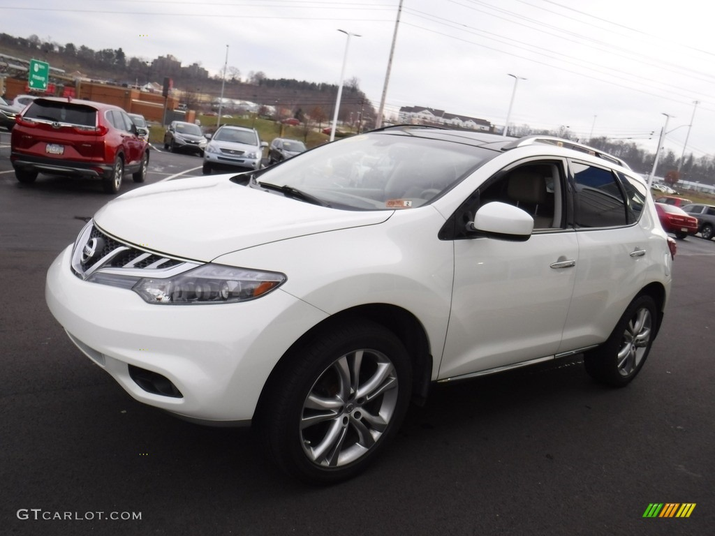 2011 Murano LE AWD - Glacier White Pearl / Beige photo #6