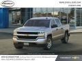 Silver Ice Metallic 2018 Chevrolet Silverado 1500 Custom Crew Cab 4x4