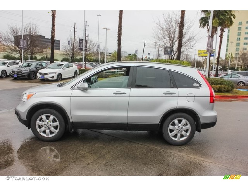 2009 CR-V EX-L - Alabaster Silver Metallic / Gray photo #4