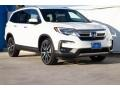 White Diamond Pearl 2019 Honda Pilot Touring