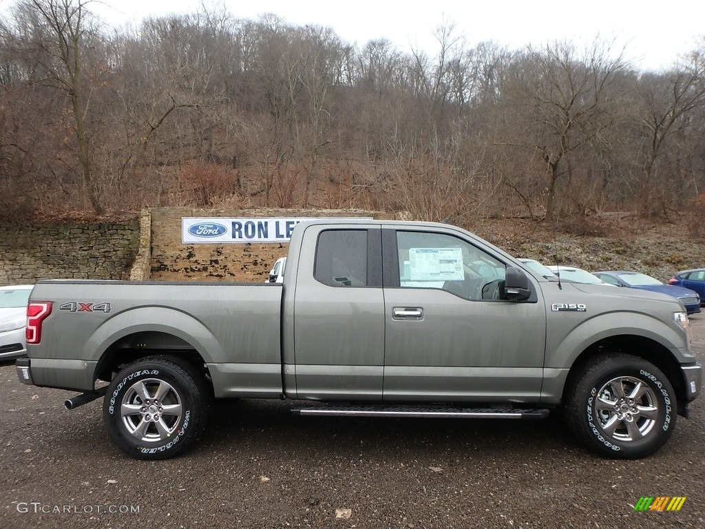 2019 F150 XLT SuperCab 4x4 - Silver Spruce / Light Camel photo #1