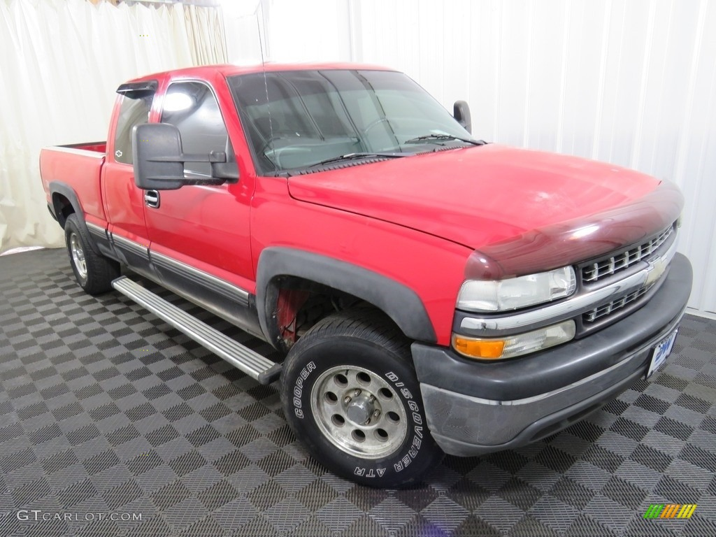 2000 Silverado 1500 LT Extended Cab 4x4 - Victory Red / Graphite photo #3