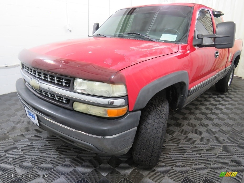 2000 Silverado 1500 LT Extended Cab 4x4 - Victory Red / Graphite photo #7
