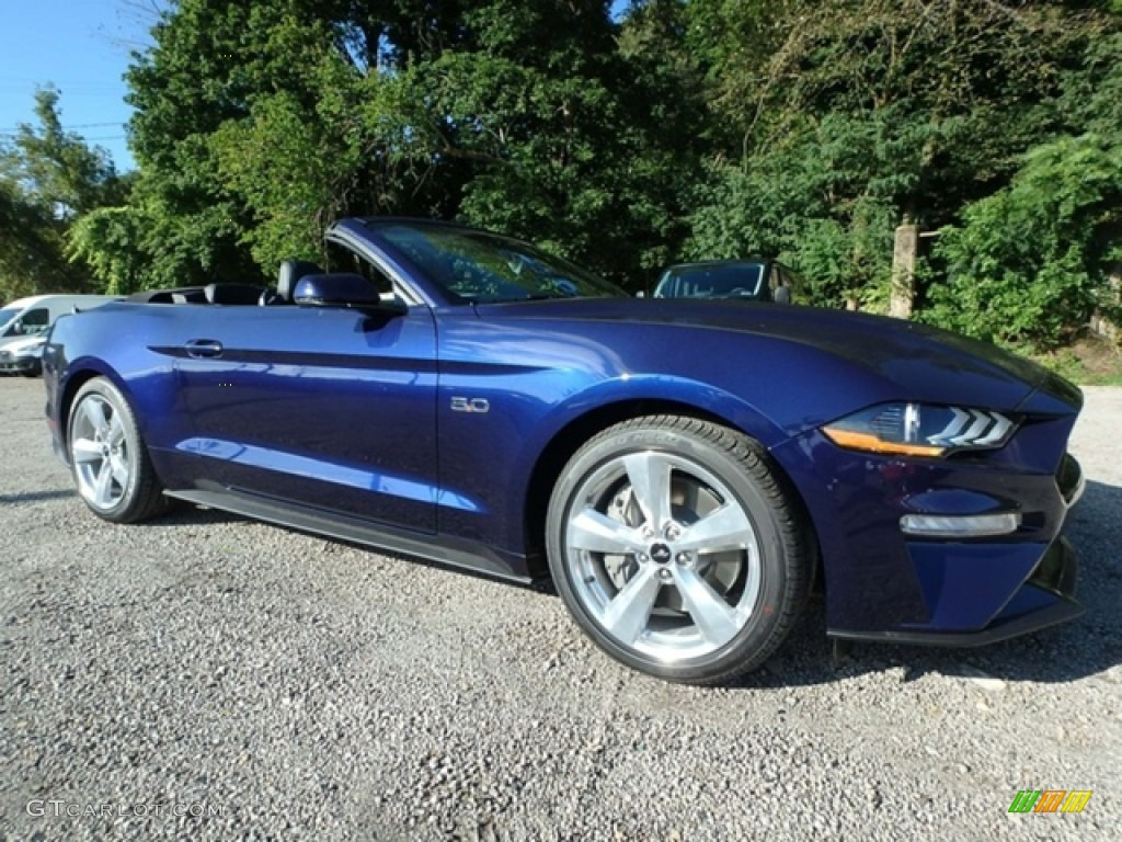2019 Mustang GT Premium Convertible - Kona Blue / Ebony photo #9