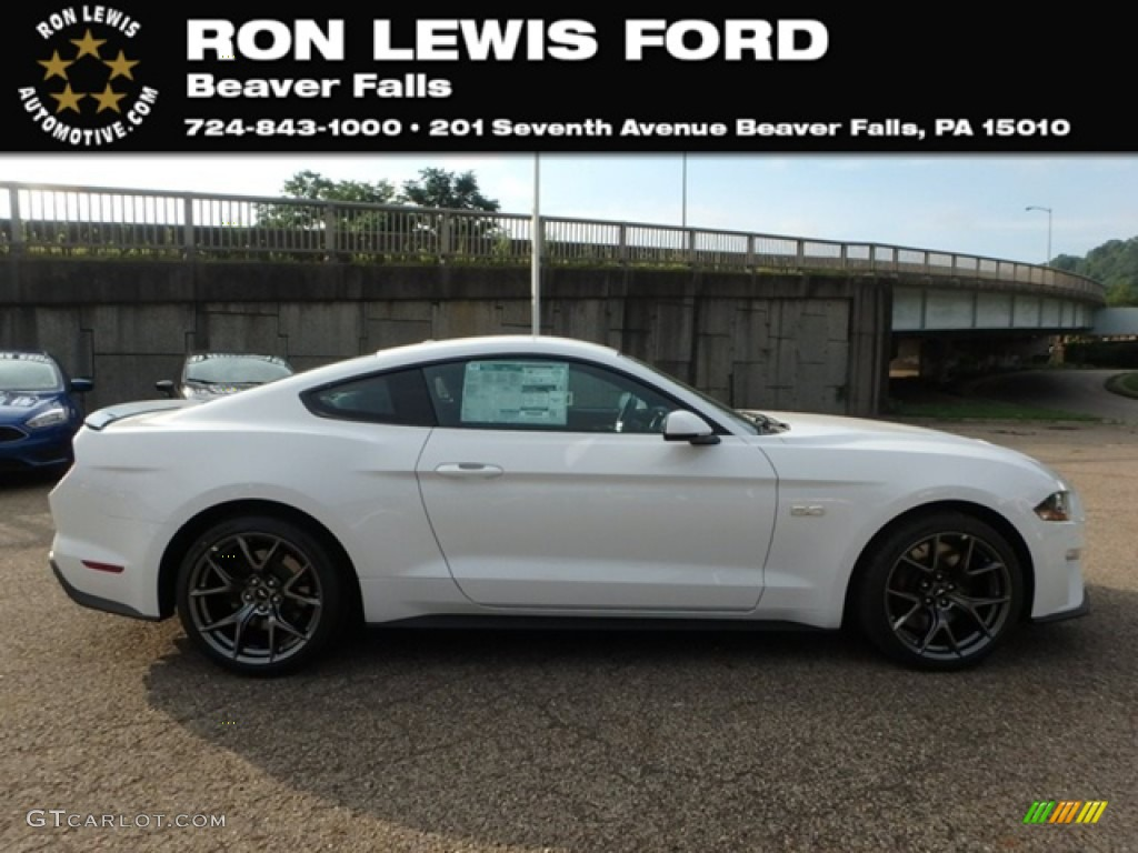 2019 Mustang GT Premium Fastback - Oxford White / Ebony photo #1