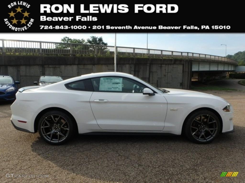 2019 Mustang GT Premium Fastback - Oxford White / Ebony photo #1
