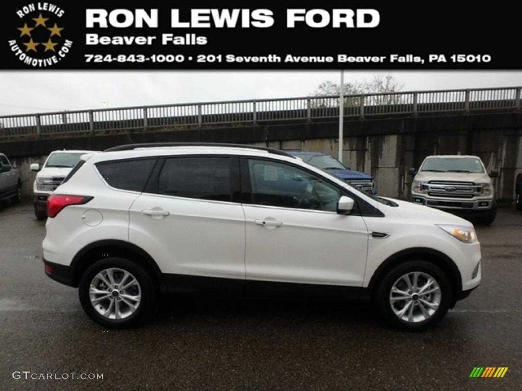 2019 Escape SEL 4WD - White Platinum / Chromite Gray/Charcoal Black photo #1