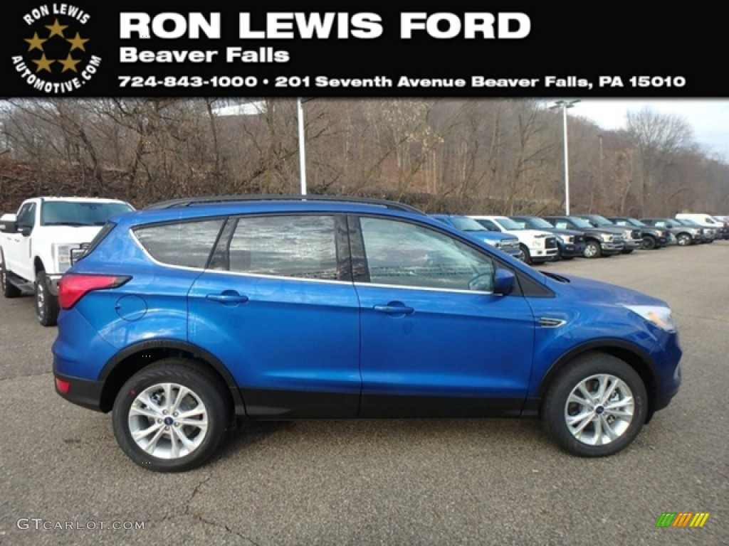 2019 Escape SEL 4WD - Lightning Blue / Chromite Gray/Charcoal Black photo #1