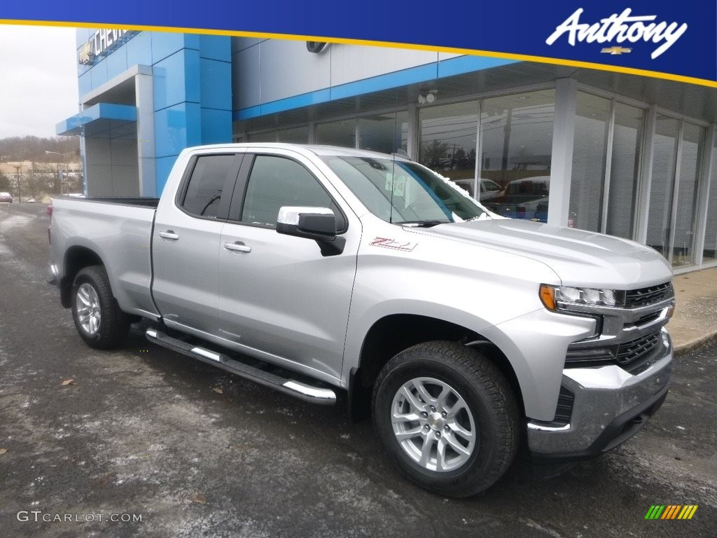 2019 Silverado 1500 LT Double Cab 4WD - Silver Ice Metallic / Jet Black photo #1