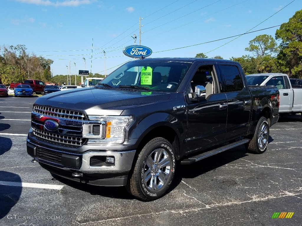 2019 F150 XLT SuperCrew 4x4 - Ruby Red / Earth Gray photo #1