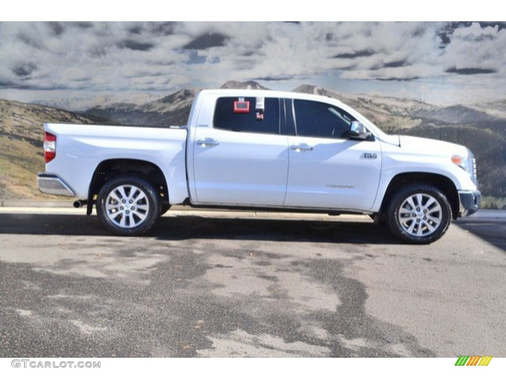 2014 Tundra Limited Crewmax 4x4 - Super White / Black photo #2