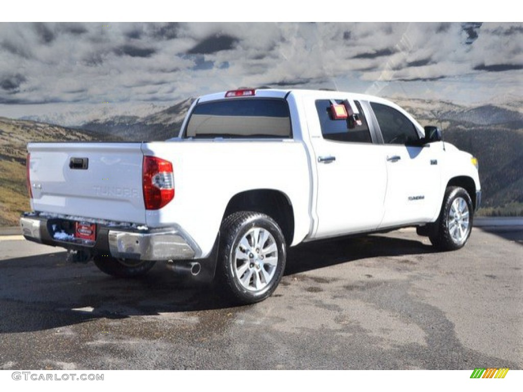 2014 Tundra Limited Crewmax 4x4 - Super White / Black photo #3