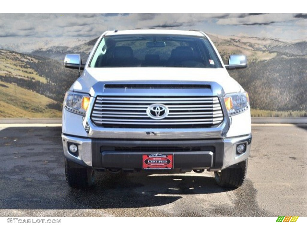 2014 Tundra Limited Crewmax 4x4 - Super White / Black photo #4