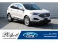 White Platinum 2019 Ford Edge Titanium
