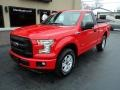 2016 Race Red Ford F150 XL Regular Cab 4x4  photo #2