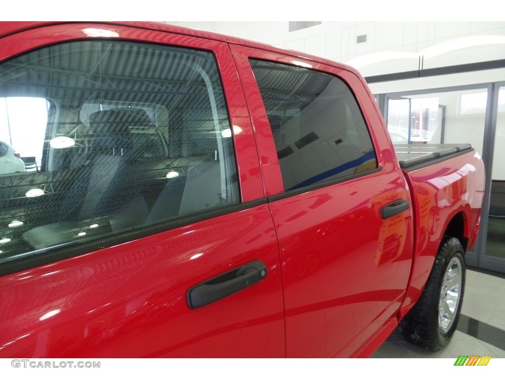2012 Ram 1500 Express Crew Cab 4x4 - Flame Red / Dark Slate Gray/Medium Graystone photo #8