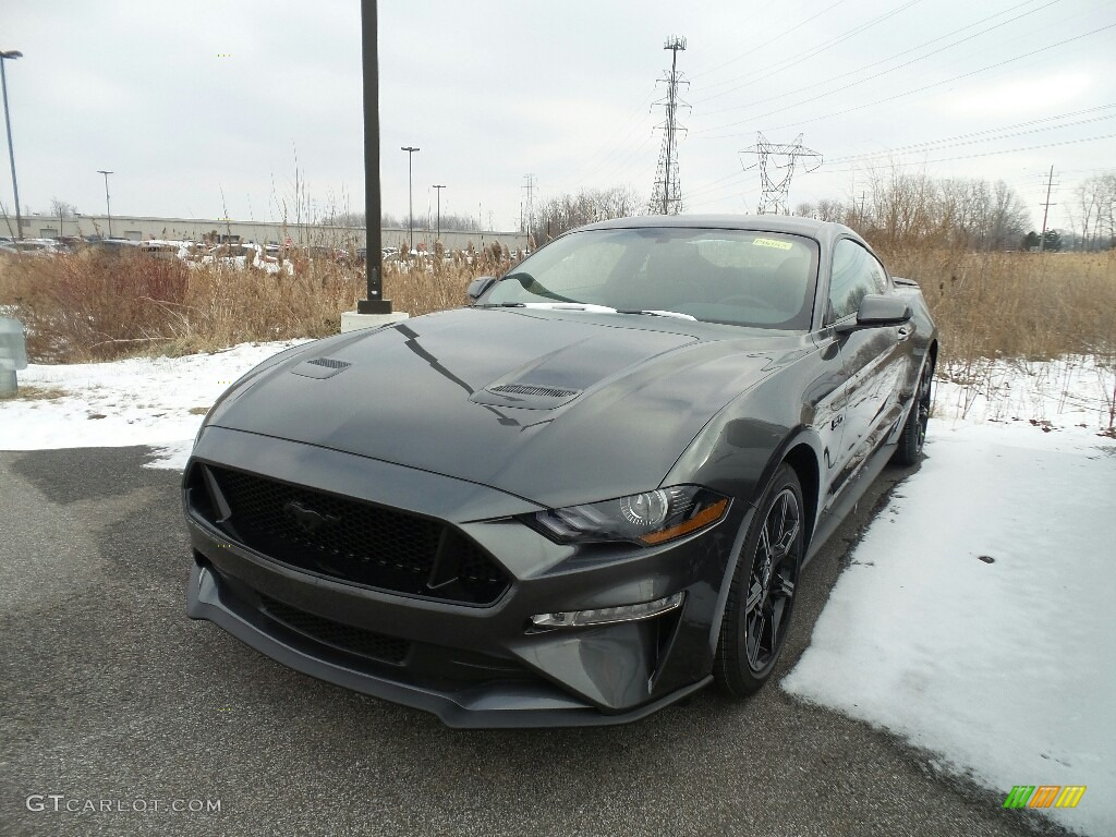 2019 Mustang GT Fastback - Magnetic / Ebony photo #1