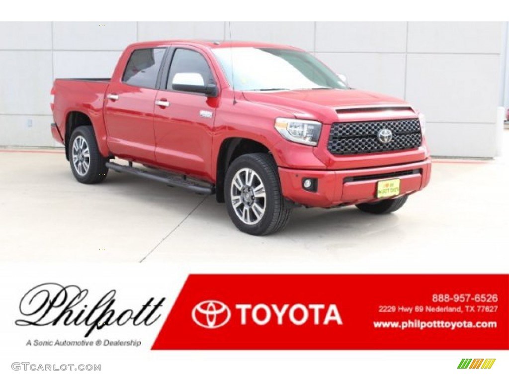 2019 Tundra Platinum CrewMax 4x4 - Barcelona Red Metallic / Black photo #1