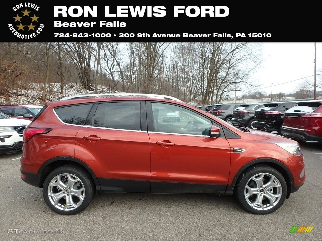 2019 Escape Titanium 4WD - Sedona Orange / Chromite Gray/Charcoal Black photo #1