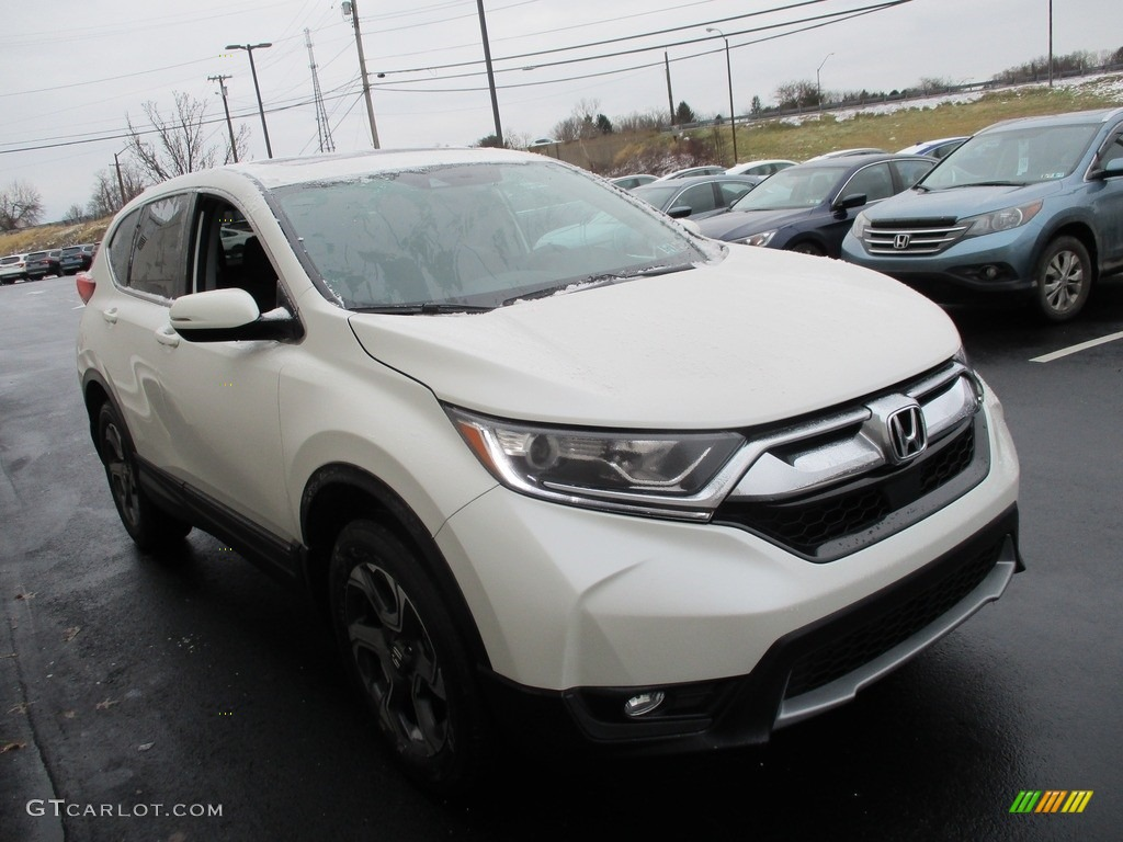 2017 CR-V EX AWD - White Diamond Pearl / Black photo #8