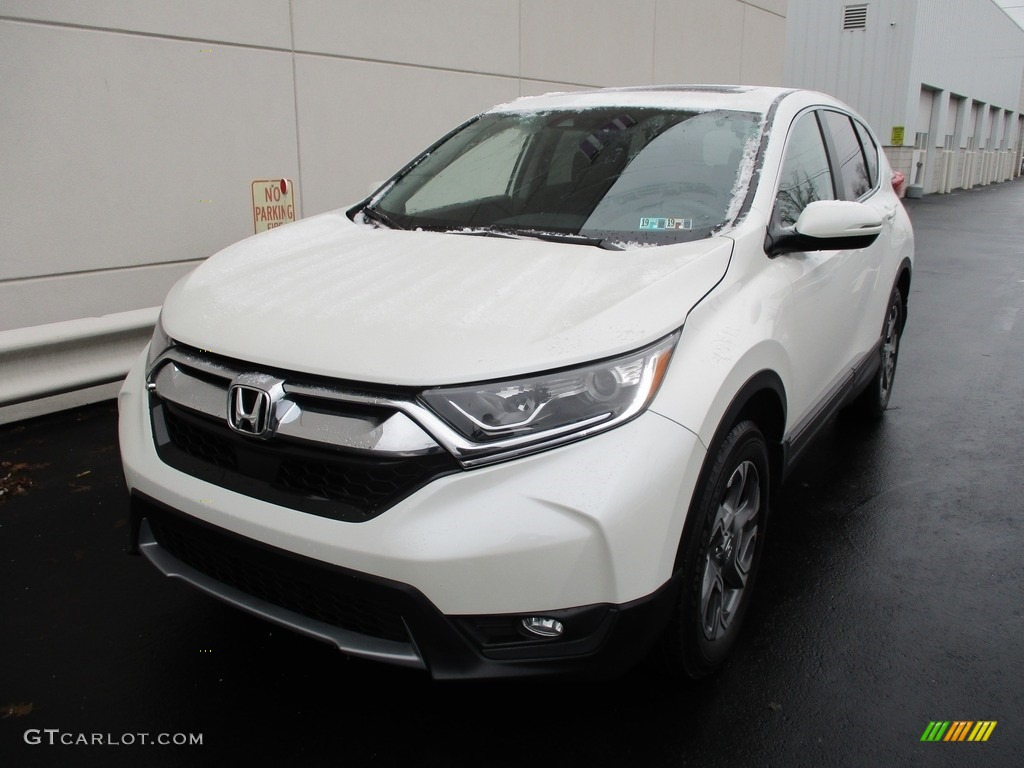 2017 CR-V EX AWD - White Diamond Pearl / Black photo #10