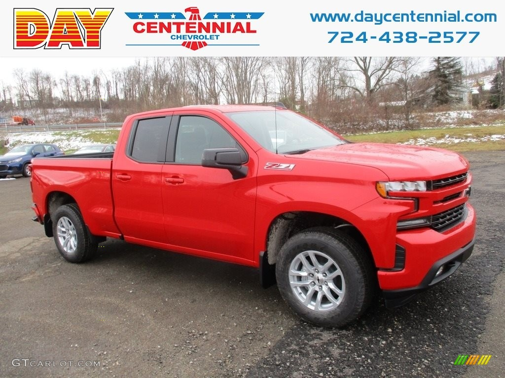 2019 Silverado 1500 RST Double Cab 4WD - Red Hot / Jet Black photo #1