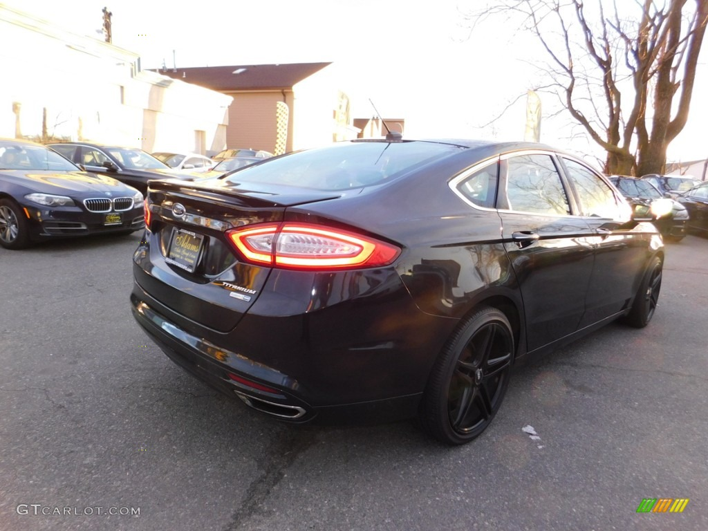 2013 Fusion Titanium AWD - Tuxedo Black Metallic / Charcoal Black photo #6