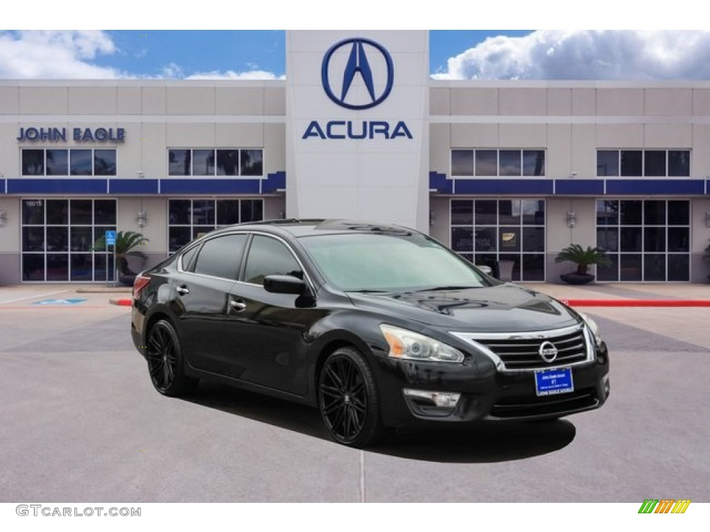 2013 Super Black Nissan Altima 2 5 S 131532900 Gtcarlot Com Car Color Galleries