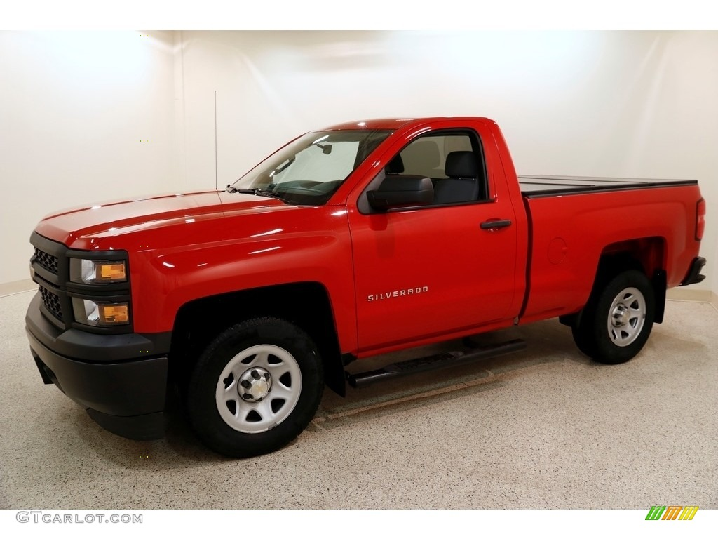 2014 Silverado 1500 WT Regular Cab - Victory Red / Jet Black/Dark Ash photo #3