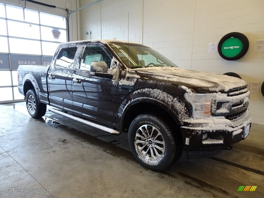 2019 F150 XLT SuperCrew 4x4 - Magma Red / Earth Gray photo #1